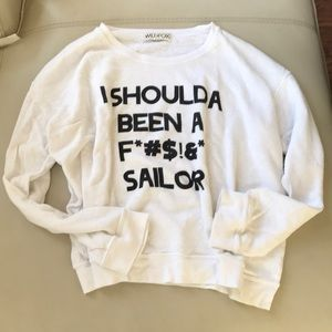 WILDFOX SWEATSHIRT JUMPER PULLOVER SAILOR SMALL
